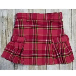 Gymboree 4T Pink Plaid Pleated Skirt w/ Adj Waist
